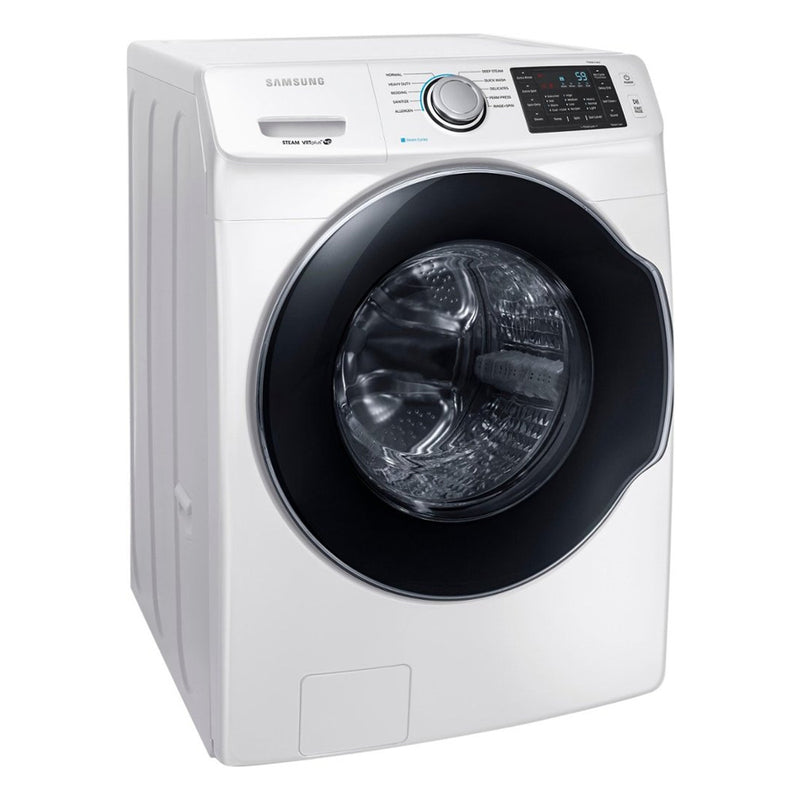 Samsung - 4.5 Cu. Ft. 10 Cycle High Efficiency Front Loading Washer with Steam - White