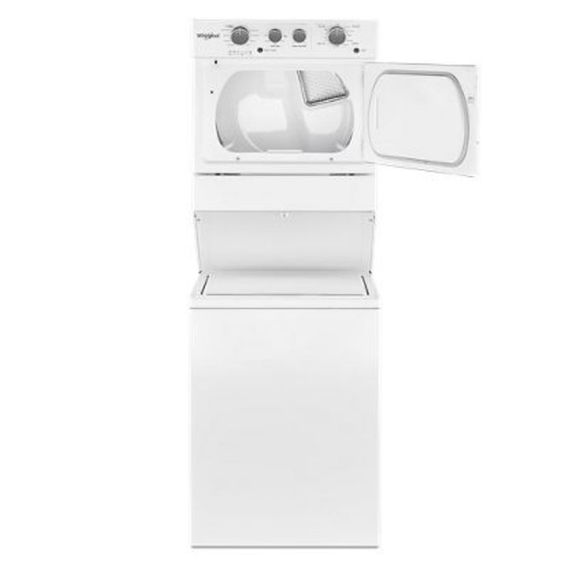 Whirlpool - Electric Stacked Laundry Center with 3.5 cu ft Washer and 5.9 cu ft Dryer - White - Appliances Club