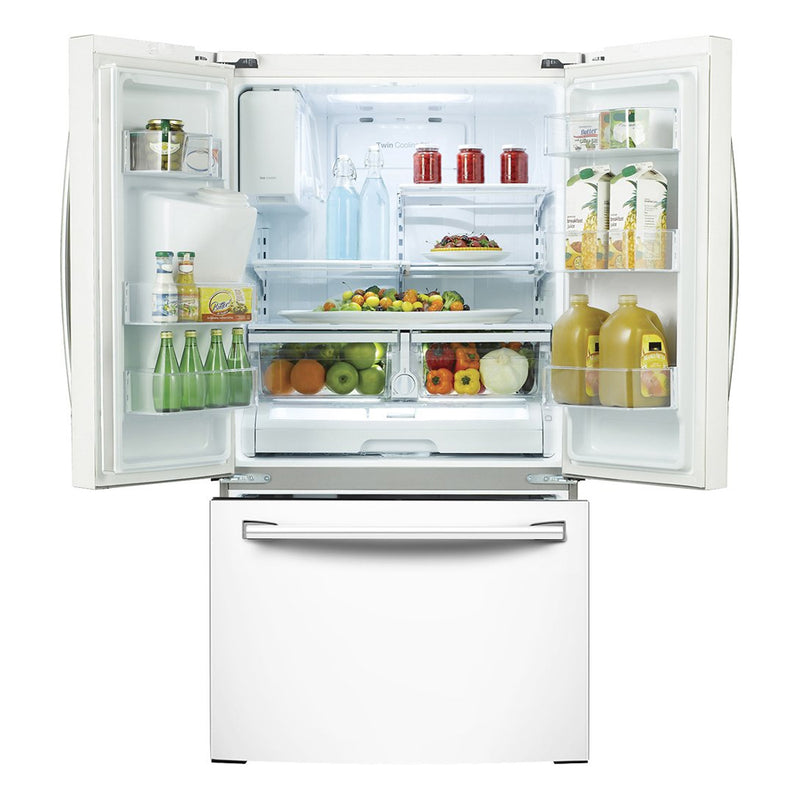 Samsung - 24.6 Cu. Ft. French Door Refrigerator - White