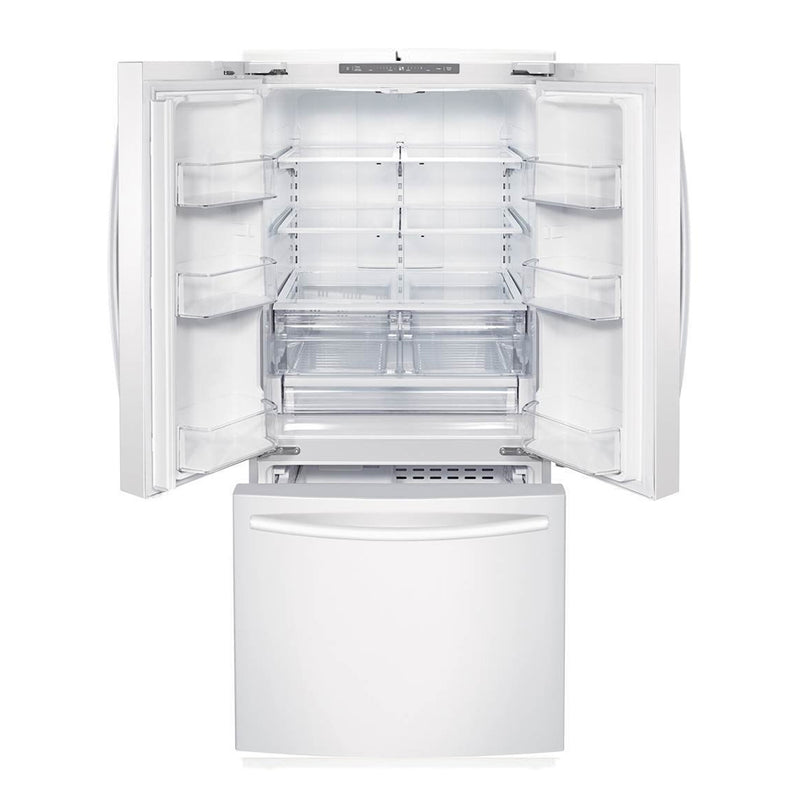 Samsung - 21.8 Cu. Ft. French Door Refrigerator - White