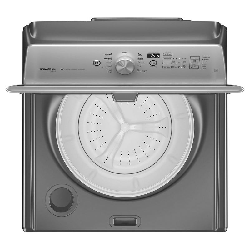 Maytag - 5.3 Cu. Ft. 11 Cycle Steam Top Loading Washer - Metallic Slate