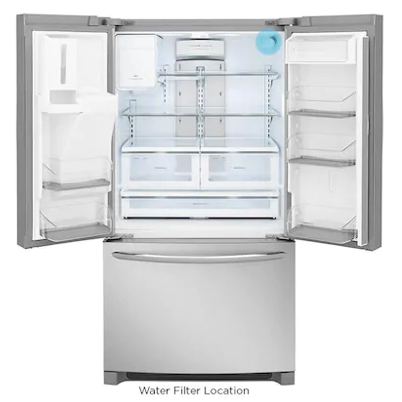 Frigidaire - Gallery 26.8 cu ft French Door Refrigerator with Dual Ice Maker - Appliances Club