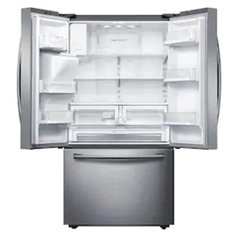 Samsung - 28.07 cu ft 3 Door Standard Depth French Door Refrigerators Dual Ice Maker - Stainless Steel - Appliances Club