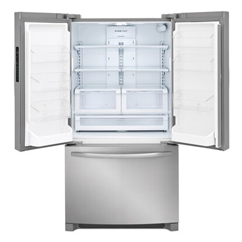 Frigidaire-22.4 cu ft Counter Depth French Door Refrigerator with Ice Maker-EasyCare Stainless Steel