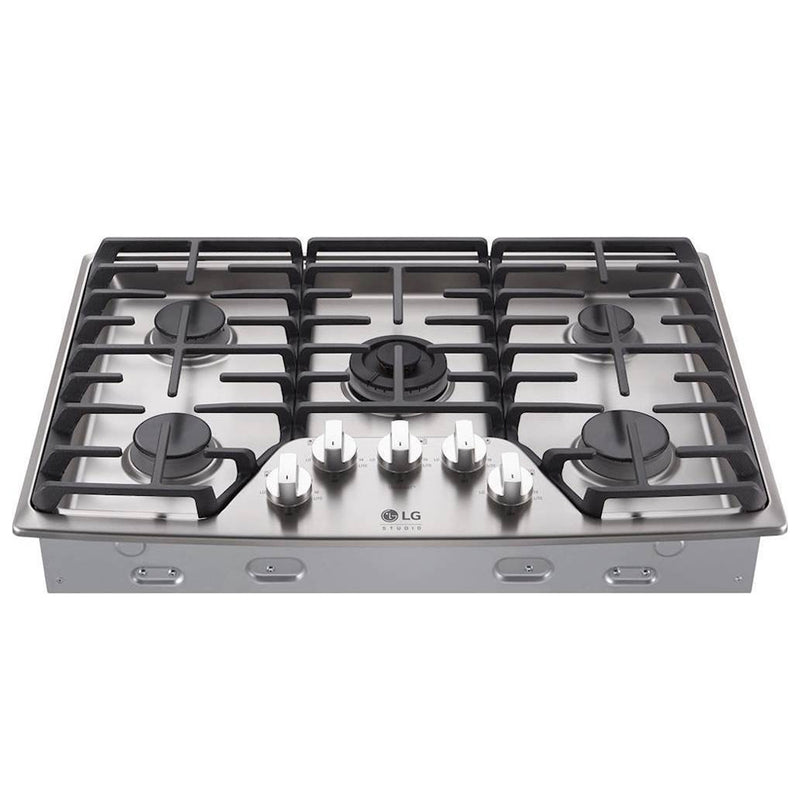 "LG - STUDIO 30"" Built In Gas Cooktop - Stainless steel - Appliances Club"