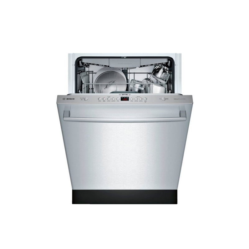 "Bosch - 800 Series 24"" Top Control Built In Dishwasher with CrystalDry, Stainless Steel Tub, 3rd Rack, 40 dBa - Stainless steel - Appliances Club"