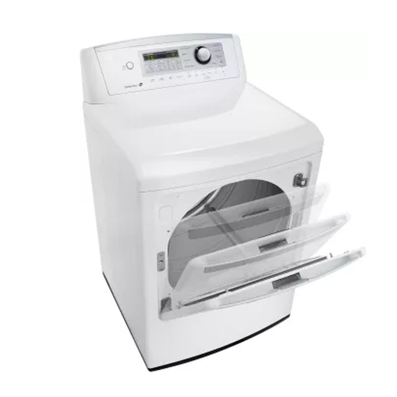 LG - 7.3 Cu. Ft. 8 Cycle Electric Dryer - White - Appliances Club