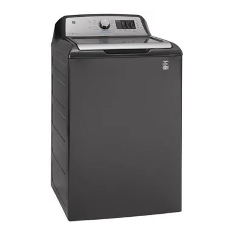 GE - 4.6 Cu. Ft. 14 Cycle Top Loading Washer - Diamond gray