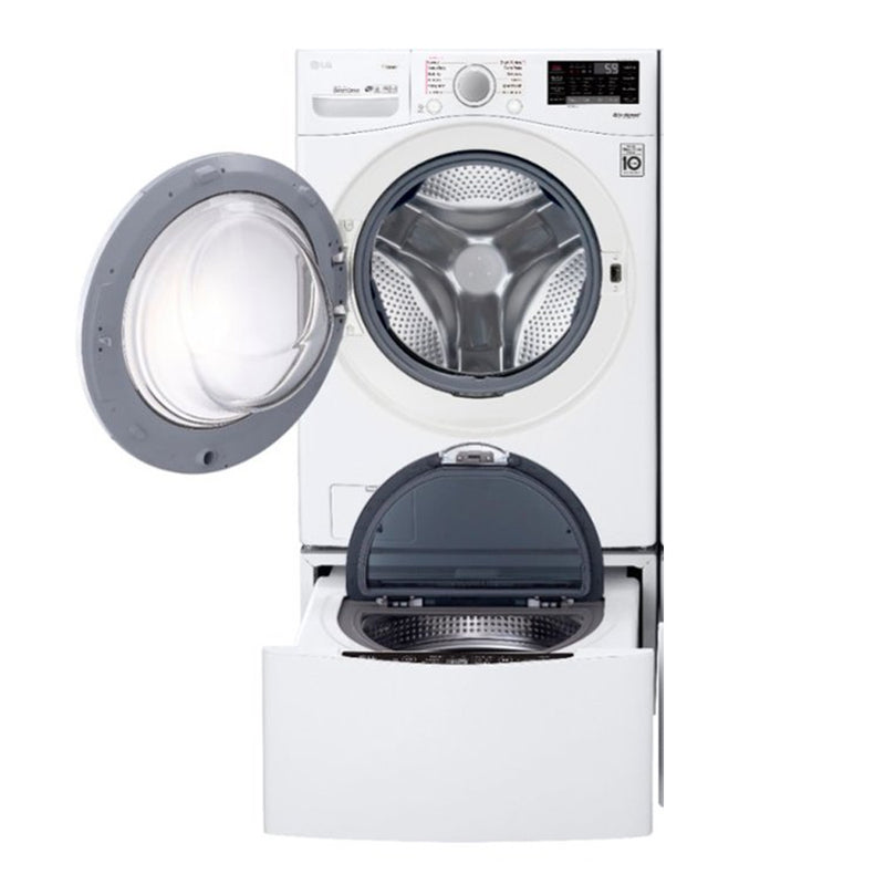 LG - 4.5 Cu. Ft. 12 Cycle Front Loading Smart Wi-Fi Washer with 6Motion Technology - White - Appliances Club