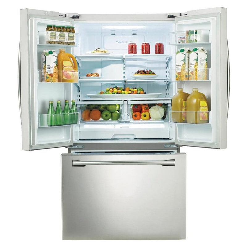 Samsung - 25.5 Cu. Ft. French Door Refrigerator with Internal Water Dispenser - White - Appliances Club