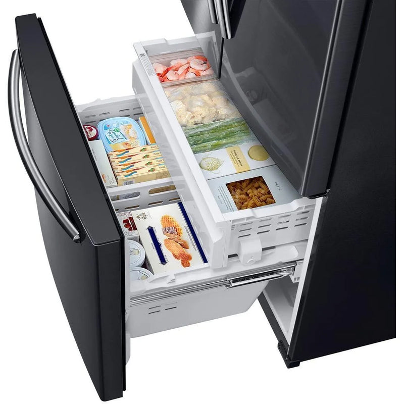 Samsung - 25 cu. ft. French Door Refrigerator with External Water and Ice Dispenser - Black