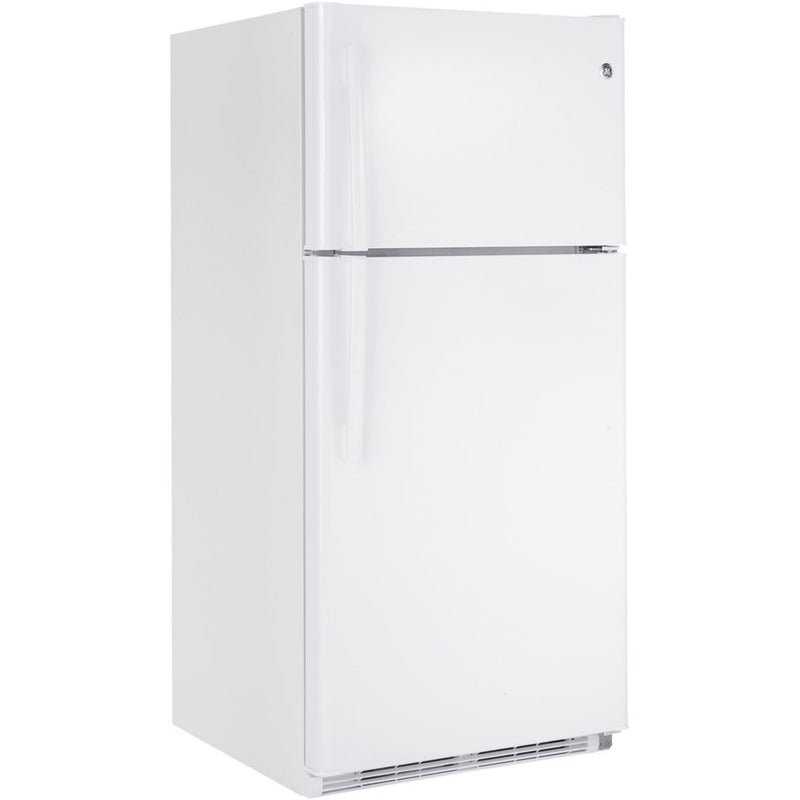 GE - 20.8 Cu. Ft. Top Freezer Refrigerator - White