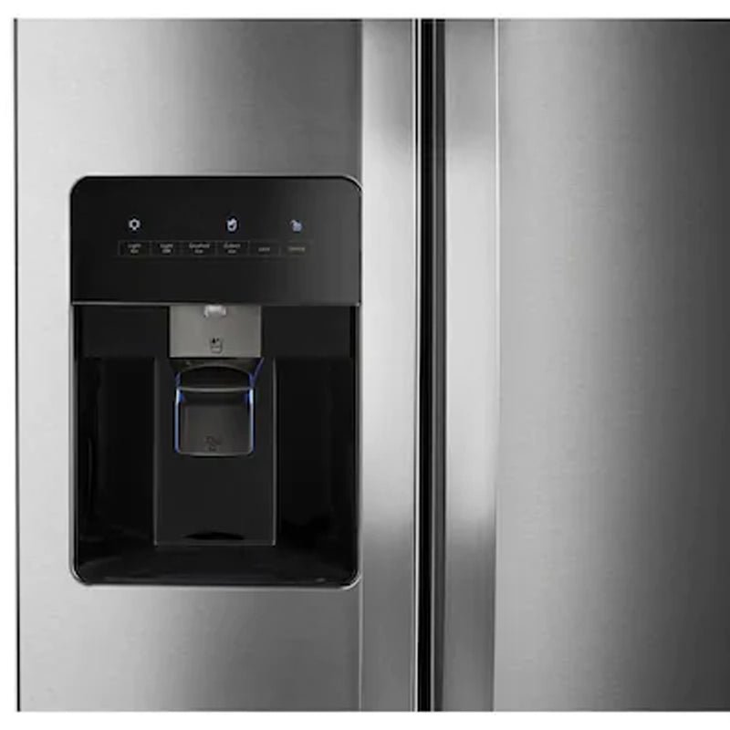 Whirlpool - 24.6 cu ft Side by Side Refrigerator with Ice Maker - Fingerprint Resistant Stainless Steel - Appliances Club