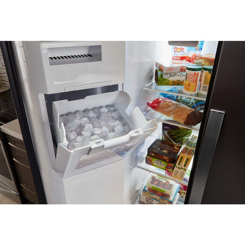 Whirlpool - 21 cu. ft. Side By Side Refrigerator, Counter Depth - Fingerprint Resistant Stainless Steel - Appliances Club