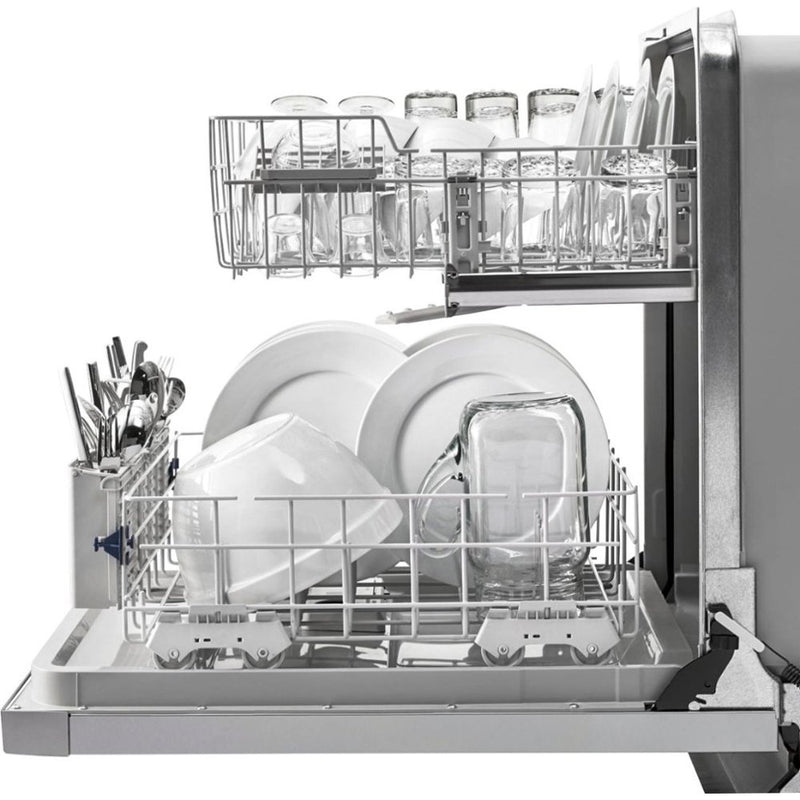 "Whirlpool - 24"" Tall Tub Built In Dishwasher - Monochromatic Stainless Steel"