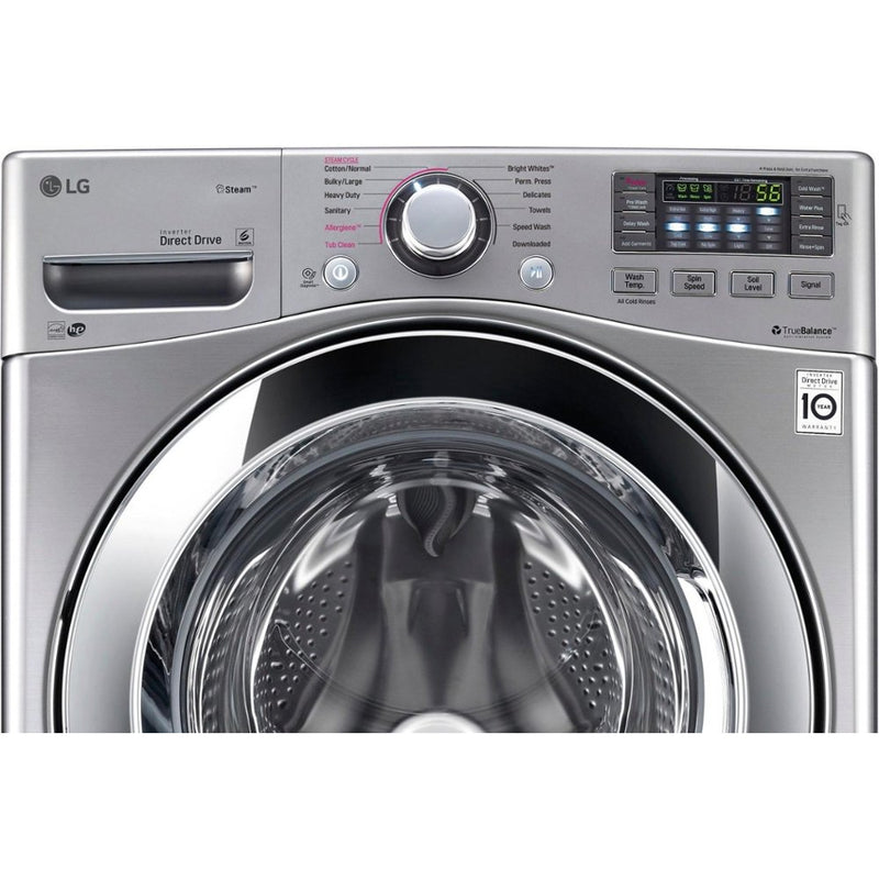 LG - 4.5 Cu. Ft. 12 Cycle Front-Loading Washer - Graphite Steel