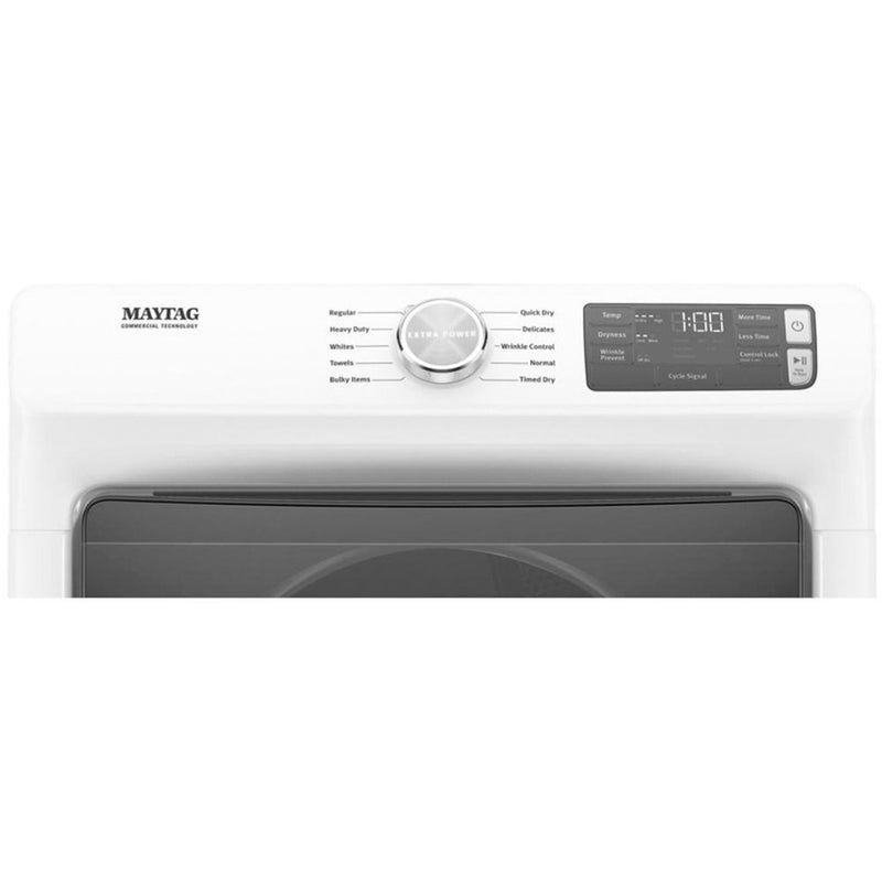 Maytag - 7.3 Cu. Ft. 10 Cycle High Efficiency Electric Dryer - White