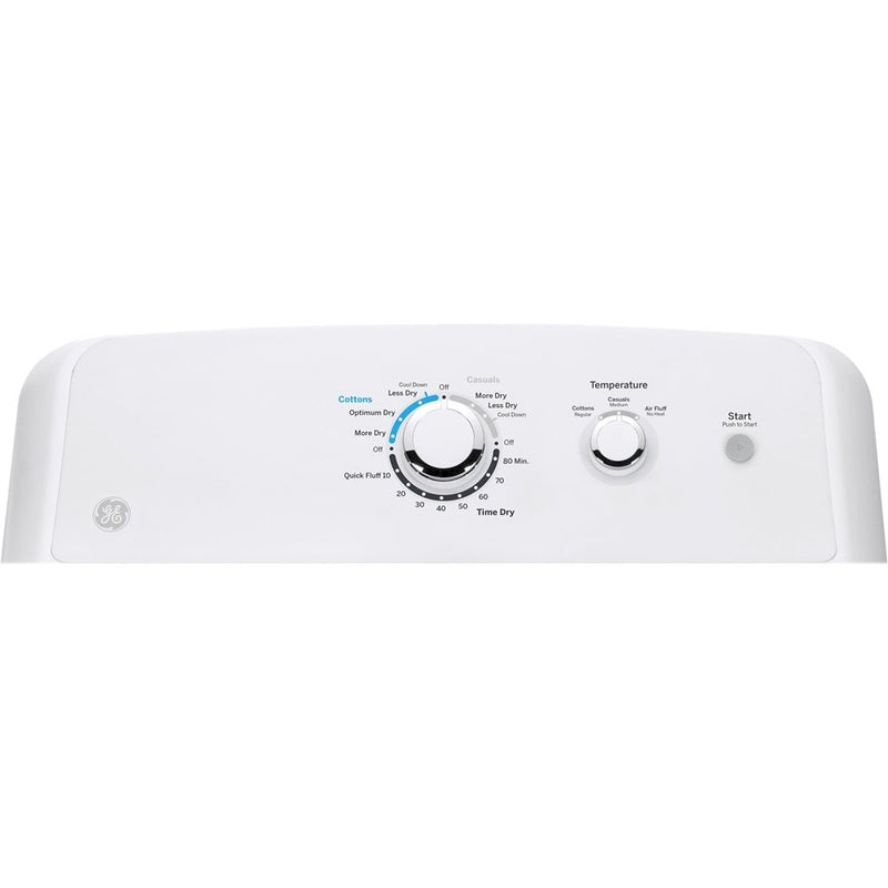 GE - 7.2 Cu. Ft. 1 Cycle Gas Dryer - White