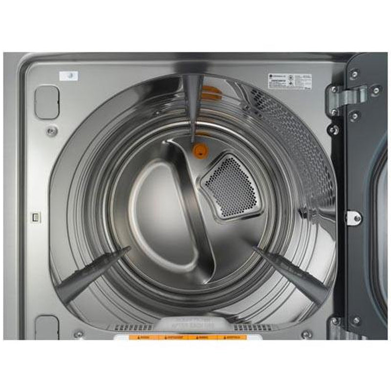 LG - 7.3 cu. ft. Steam Gas Dryer with Smart Thinq Technology - Graphite Steel - Appliances Club