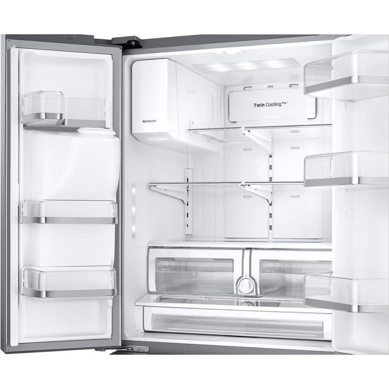 Samsung - 26 cu. ft. 3 Door French Door Refrigerator with CoolSelect Pantry - Stainless steel