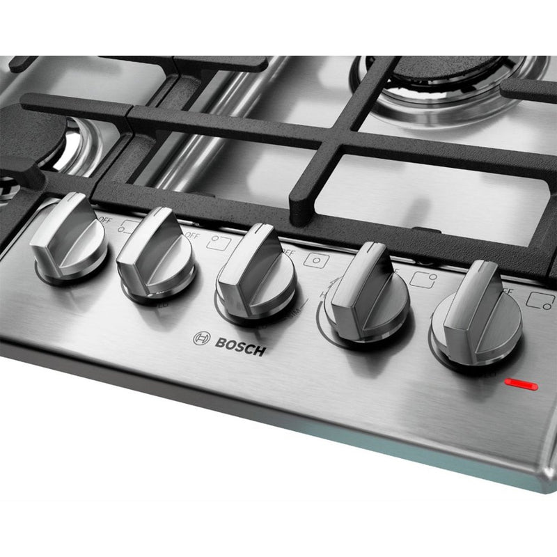 "Bosch - 30"" Gas Cooktop - Stainless steel - Appliances Club"