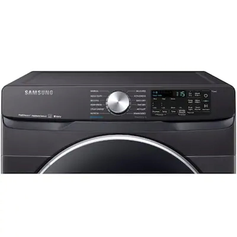 Samsung - Smart 7.5 cu ft Stackable Electric Dryer - Fingerprint Resistant Black Stainless Steel