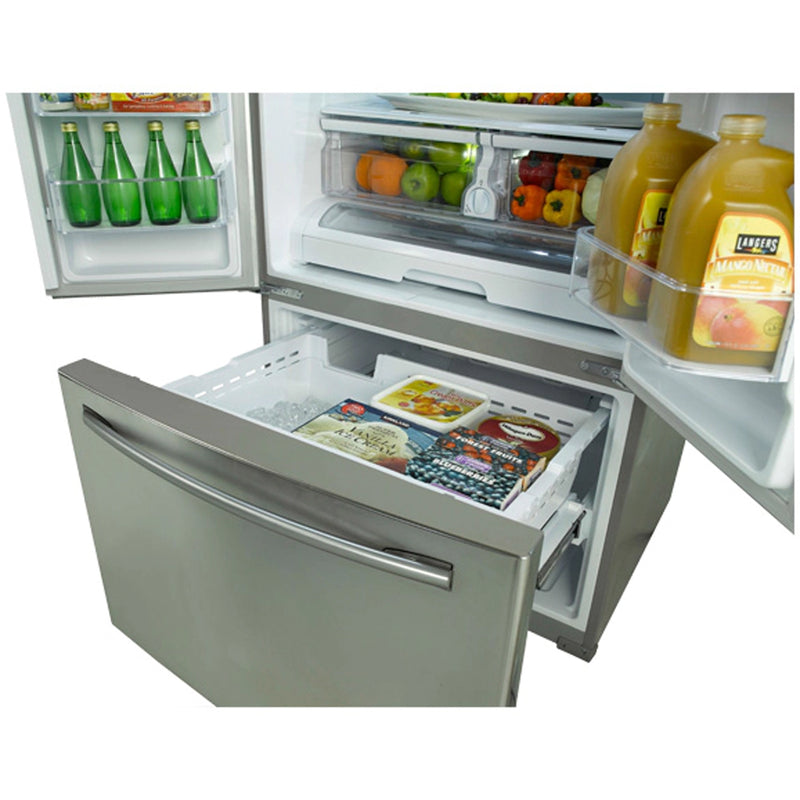 Samsung - 25.7 Cu. Ft. French Door Refrigerator - Stainless Platinum