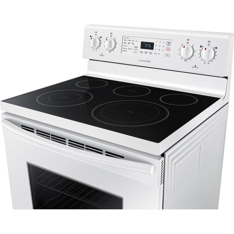Samsung - 5.9 cu. ft. Convection Freestanding Electric Range - White