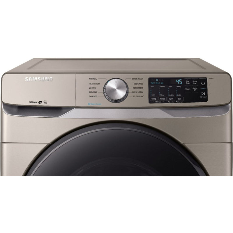Samsung - 4.5 Cu. Ft. 10 Cycle High Efficiency Front Loading Washer with Steam - Champagne - Appliances Club
