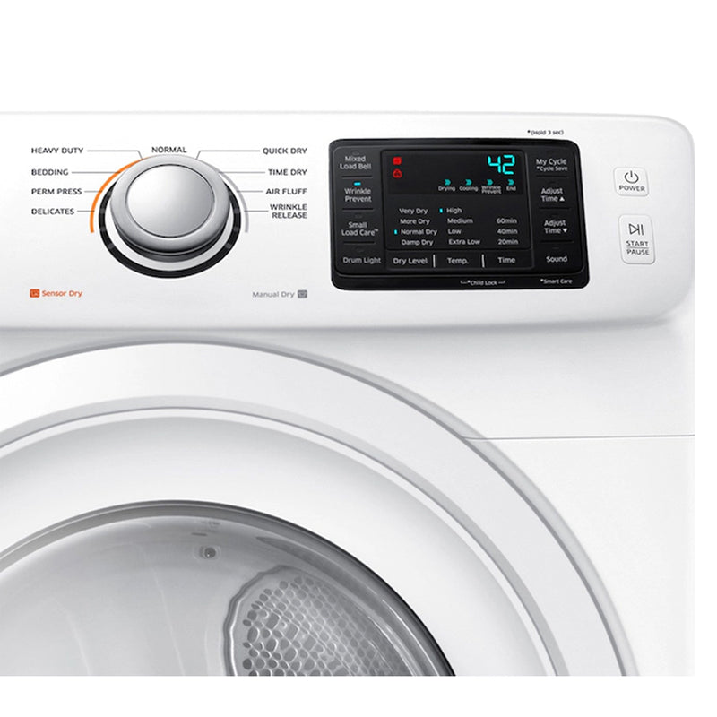 Samsung - 7.5 Cu. Ft. 9 Cycle Electric Dryer - White