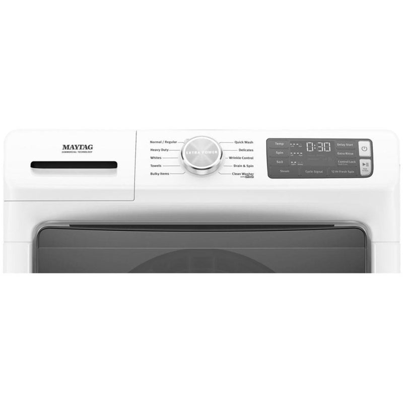 Maytag - 4.5 Cu. Ft. 10 Cycle High Efficiency Front Loading Washer with Steam - White