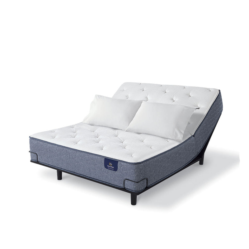 Serta - Sleeptrue Lindridge Plush Full - White