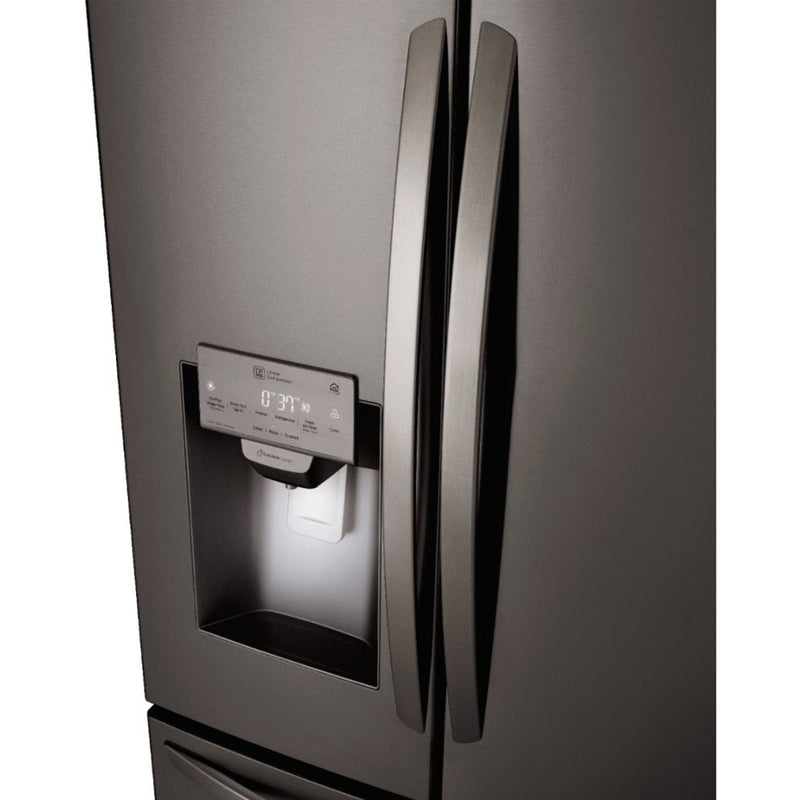 LG - 26.2 Cu. Ft. French Door Smart Wi-Fi Enabled Refrigerator PrintProof - Black stainless steel