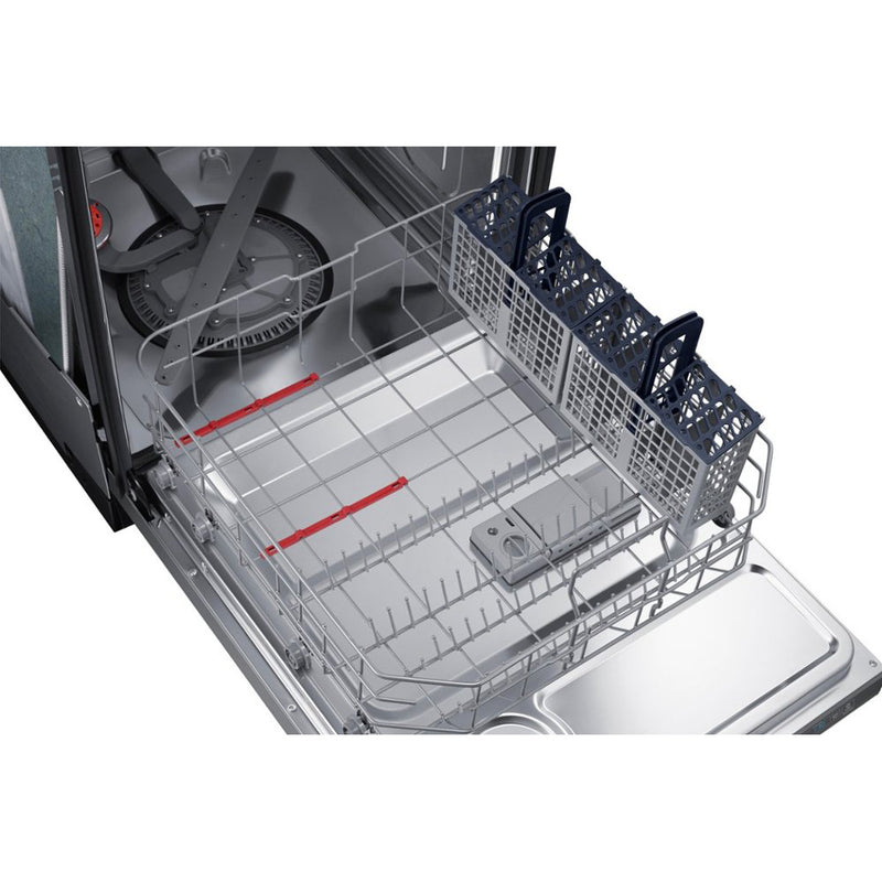 "Samsung - StormWash™ 24"" Top Control Built In Dishwasher - Fingerprint Resistant Black Stainless Steel - Appliances Club"
