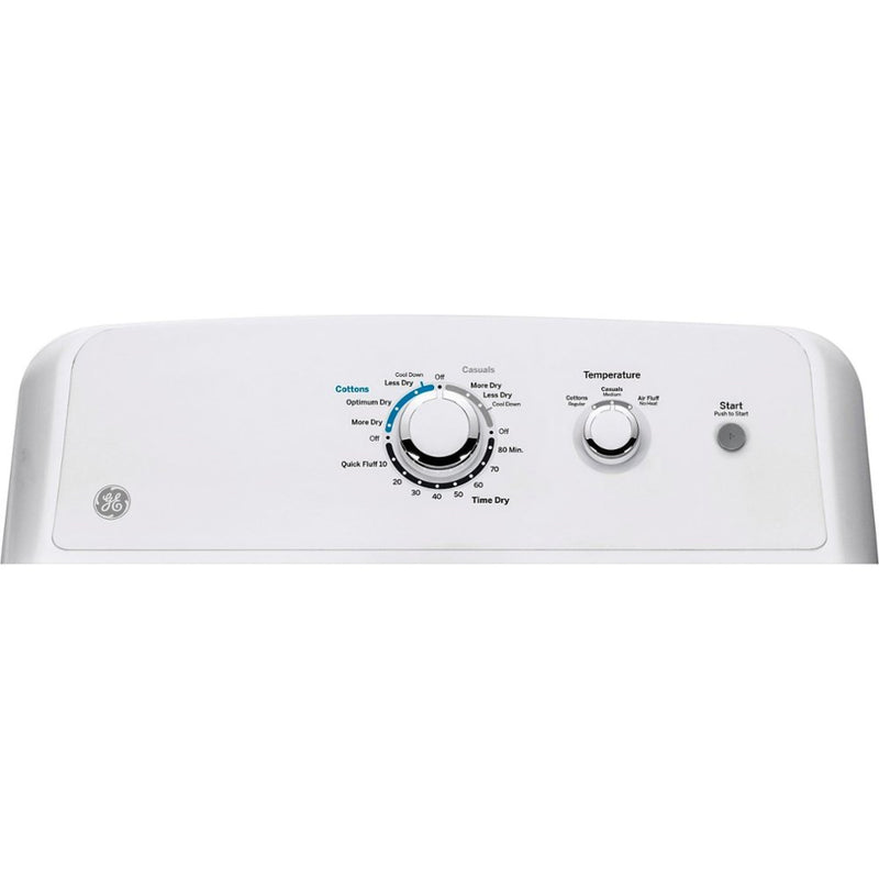 GE - 7.2 Cu. Ft. 3 Cycle Electric Dryer - White