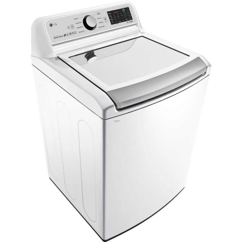 LG - 5.0 Cu. Ft. 8 Cycle Top Loading Washer - White - Appliances Club