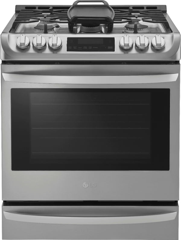 LG - 6.3 Cu. Ft. Self-Cleaning Slide-In Gas Range with ProBake Convection - Stainless steel