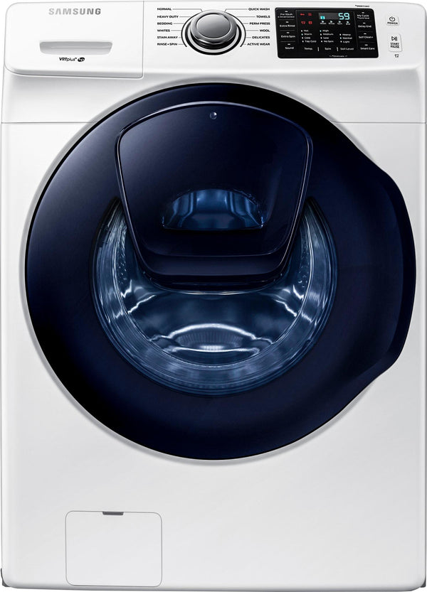 Samsung - 4.5 Cu. Ft. 12-Cycle Addwash™ High-Efficiency Front-Loading Washer - White