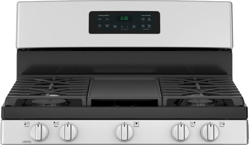 GE - 5.0 Cu. Ft. Freestanding Gas Range - Stainless steel