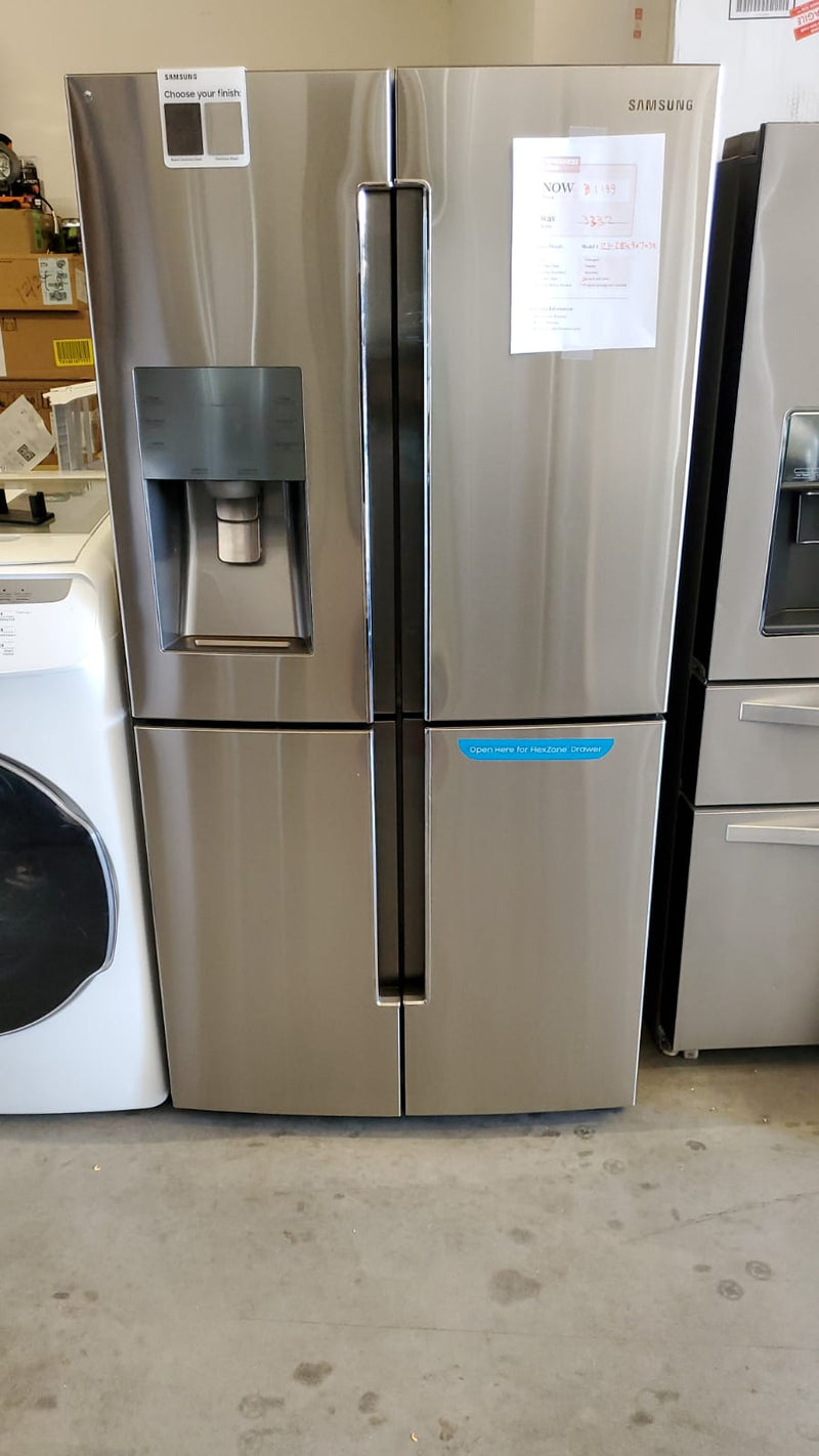 Samsung - 28.1 Cu. Ft. 4 Door Flex French Door Refrigerator - Fingerprint Resistant Stainless Steel