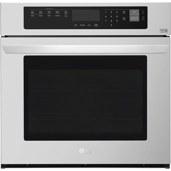 "LG - 30"" Built-In Single Electric Convection Wall Oven with EasyClean - Stainless steel"