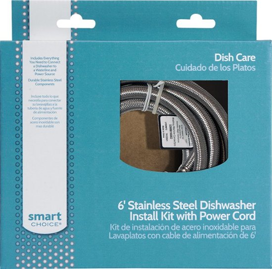 Smart Choice - 6' Deluxe Dishwasher Install Kit - Multi - Appliances Club