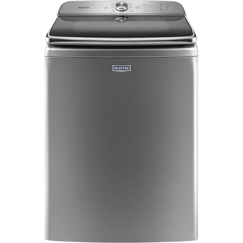 Maytag - 6.2 Cu. Ft. 10-Cycle Top-Loading Washer - Chrome Shadow