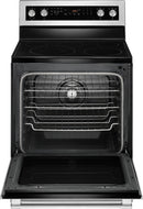 Maytag - 6.4 Cu. Ft. Self-Cleaning Freestanding Fingerprint Resistant Electric Convection Range - Stainless steel