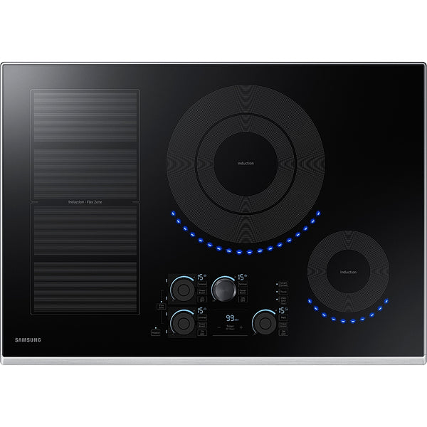 "Samsung - 30"" Induction Cooktop with WiFi and Virtual Flame™ - Stainless steel"