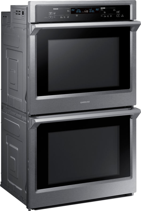 "Samsung - 30"" Double Wall Oven with Steam Cook and WiFi - Stainless steel"