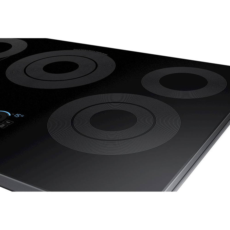 "Samsung - 30"" Fingerprint Resistant Electric Cooktop-Black Stainless Steel - Fingerprint Resistant Black Stainless Steel"