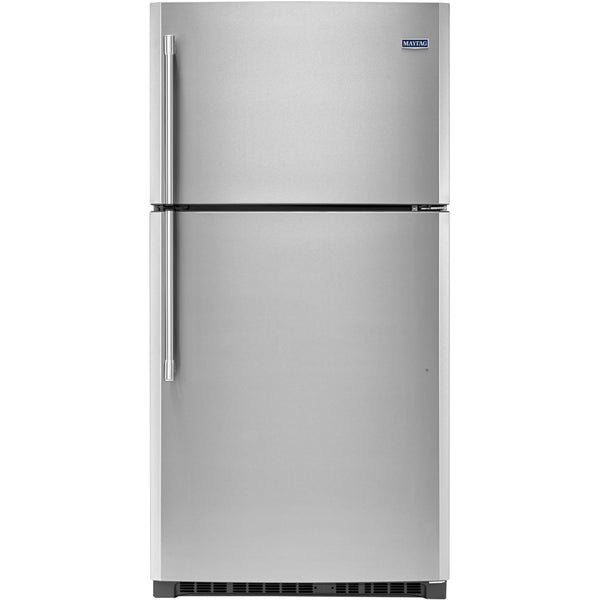 Maytag - 21.2 Cu. Ft. Top-Freezer Refrigerator - Silver