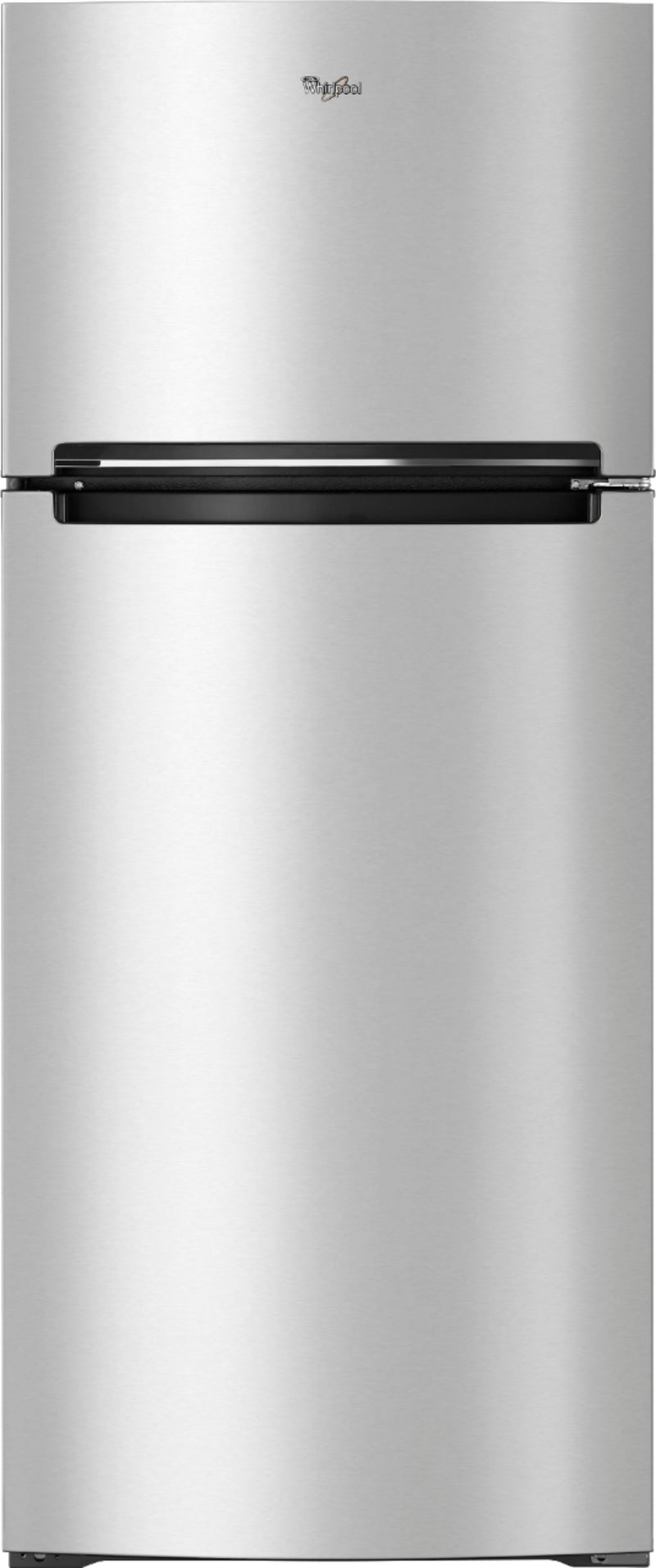Whirlpool - 17.7 Cu. Ft. Top-Freezer Refrigerator - Monochromatic Stainless Steel