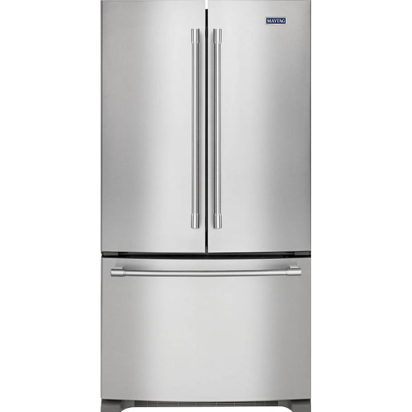 Maytag - 22.1 Cu. Ft. French Door Fingerprint Resistant Refrigerator - Stainless steel